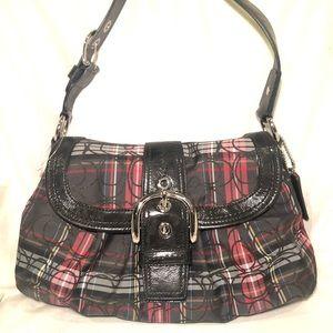 NWOT COACH Tartan Plaid Signature SoHo Bag